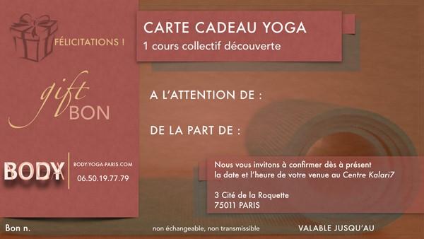 Idee Cadeau A Paris.Offrir Une Carte Cadeau De Cours De Yoga Une Bonne Idee Cadeau